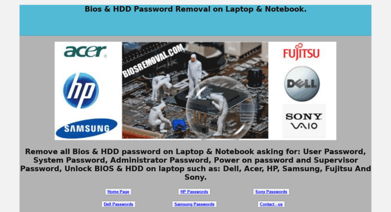 Access biosremoval com  Remove Dell Bios Password | Unlock Dell XPS