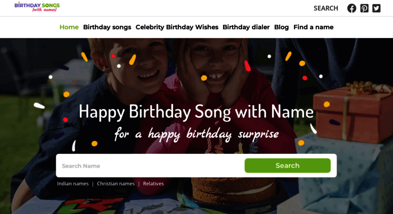 Access birthdaysongswithnames com  Birthday Song with Name