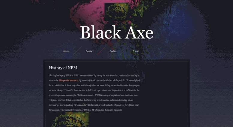Access blackafricanbm zohosites com  Black Axe - Home