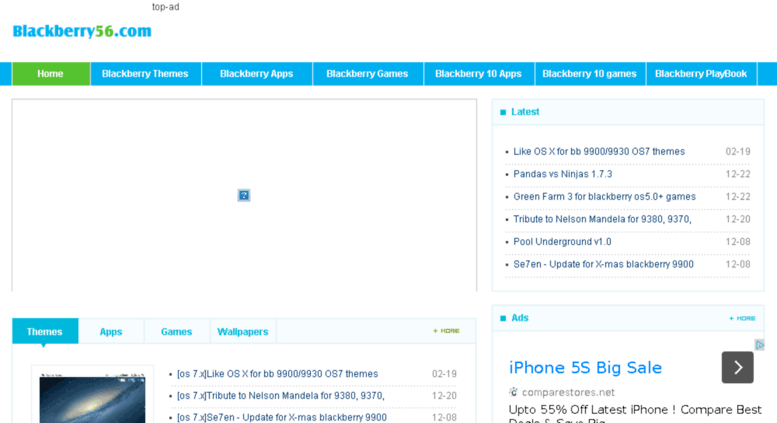 Access blackberry56 com  free Blackberry themes, blakberry