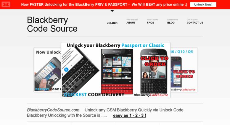 Access blackberrycodesource com  Unlock Blackberry