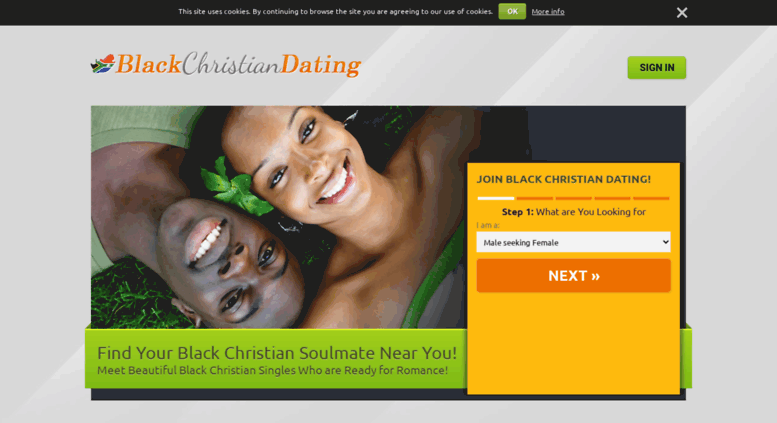 black christian date sign in