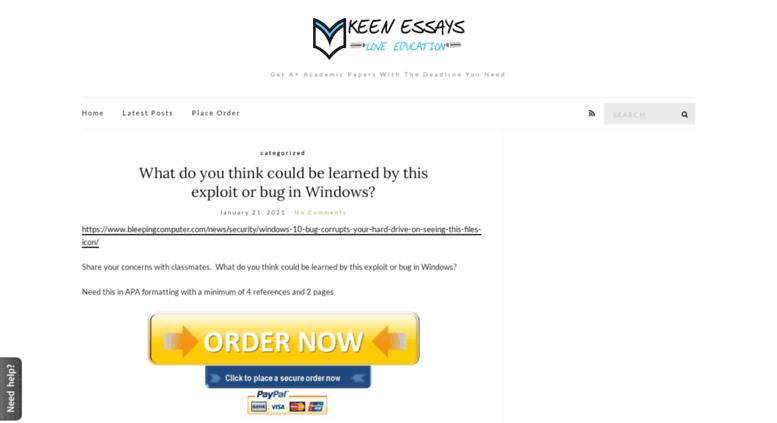 Access Blogkeenessayscom Keen Essays Blog  Get A Academic  Blogkeenessayscom Screenshot