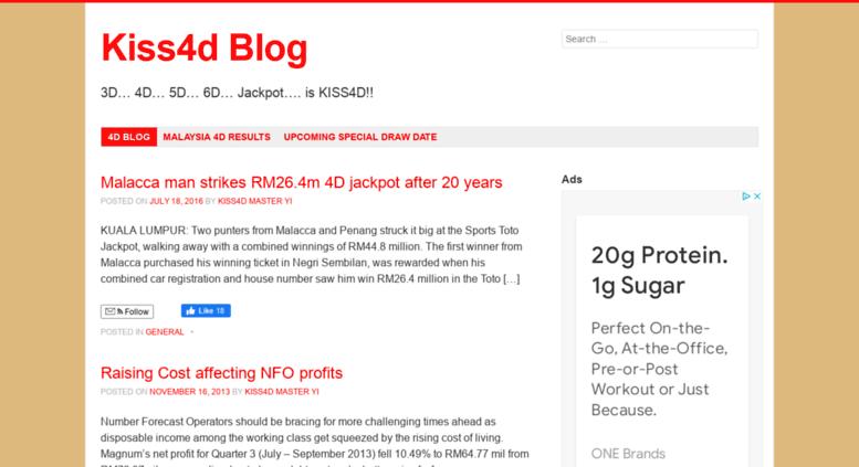 Access blog kiss4d com  Kiss4d Blog - Malaysia 4D News, Announcement