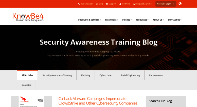 Access blog knowbe4 com  KnowBe4 Security Awareness Training Blog