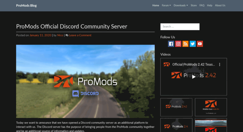 Access blog promods net  ProMods Map Expansion for Euro