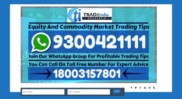 Access blog tradeindiaresearch com  Stock Market India News