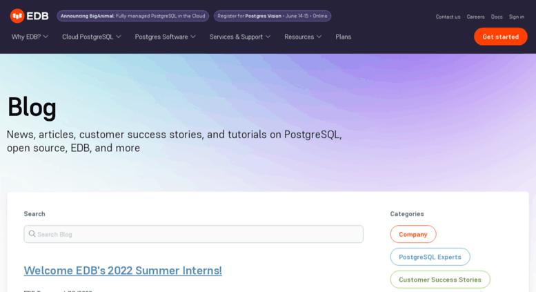 Access blogs enterprisedb com  The EDB Blog   EnterpriseDB