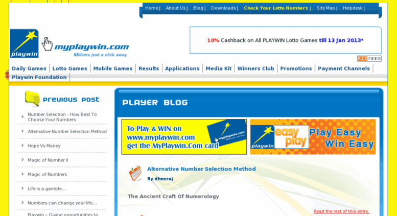 Access Blogs Myplaywin Com Playwin Player Blog Online Lottery Pool Playwin India