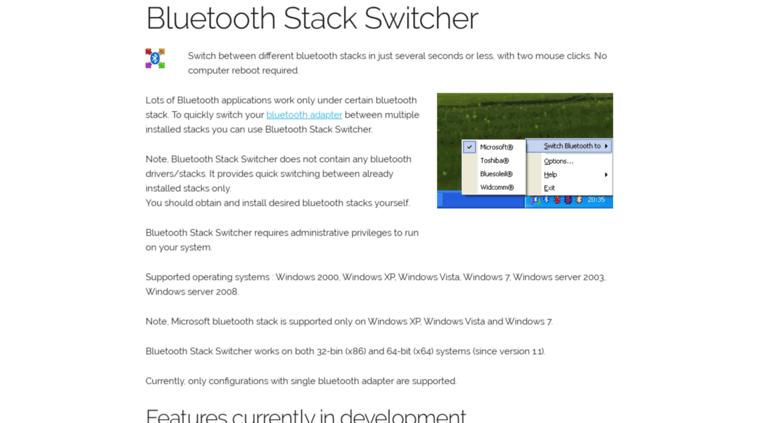bluetooth stack switcher