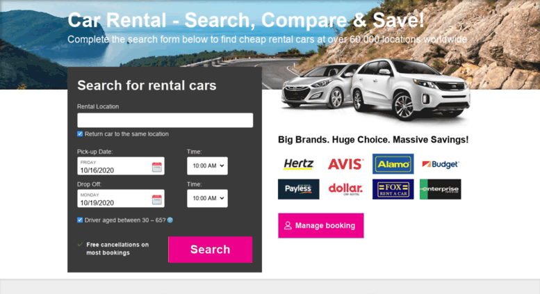 Access Booking Car Hire Lastminute Com Car Hire With