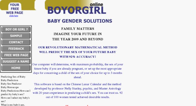 Access boyorgirl com  Boy OR Girl? - Predicting the Sex of Your Baby