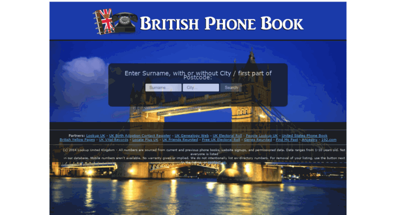 Access britishphonebook com  BritishPhoneBook com - British Phone