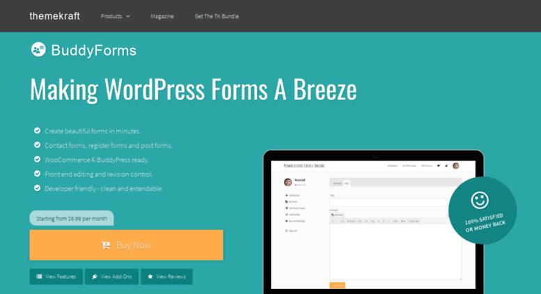 Access buddyforms com  WordPress Form Builder - Front End Editor