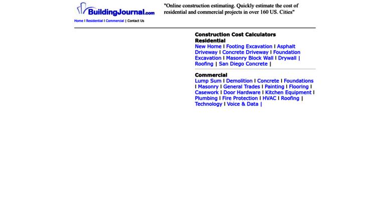 Access buildingjournal com  Free Online Construction Cost