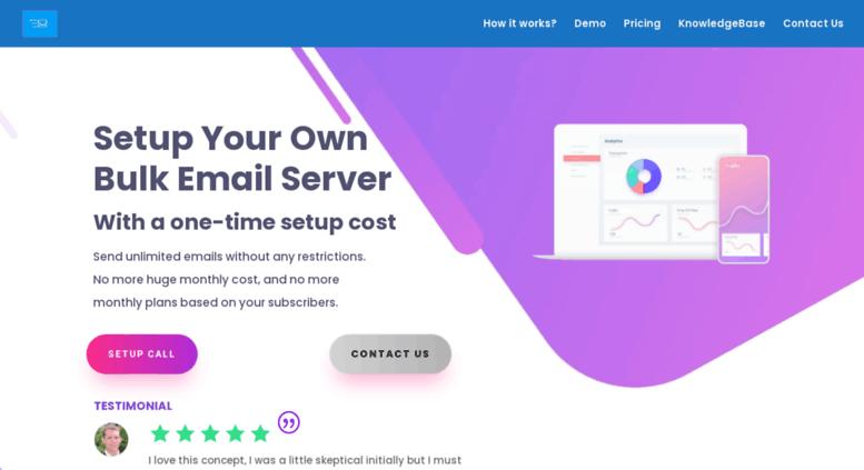 Access bulkemailsetup com  Setup Own Bulk Mailing Server