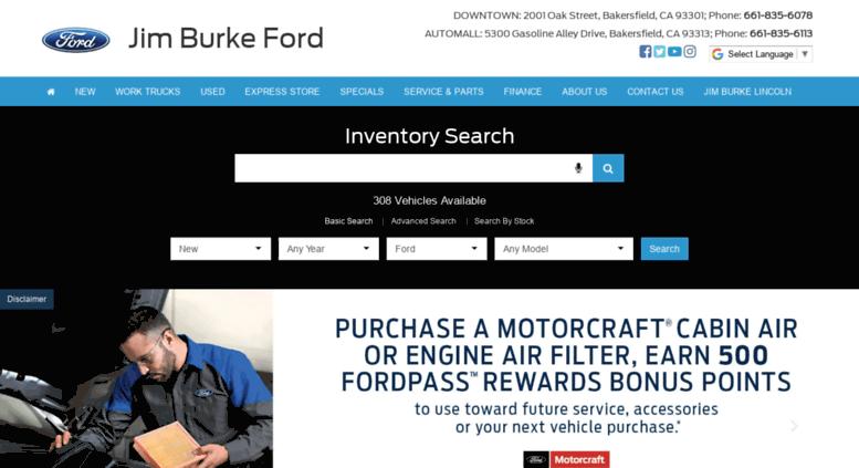 Jim Burke Ford Bakersfield >> Access Burkeauto Com Ford Dealer In Bakersfield Ca Used