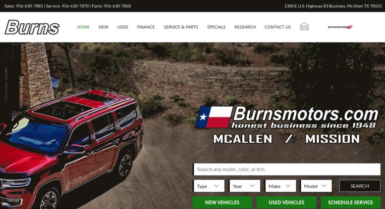Burns Motors Mcallen >> Access Burnsmotors Net Burns Motors Chrysler Dodge Jeep Ram