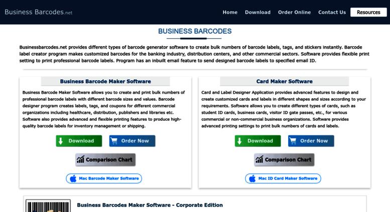 Access businessbarcodes net  Business barcodes maker