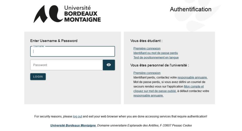 Access Bvu Bordeaux Montaignefr