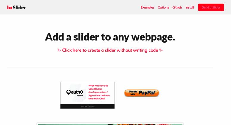 Access bxslider com  jQuery Content Slider | Responsive