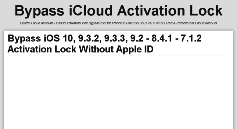 malpersrei - Bypass icloud activation lock 7 1 2 iphone 5s