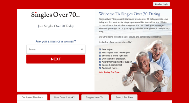 Over 70 dating site