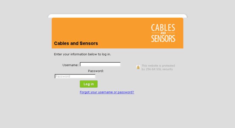 Access cablesandsensors freshbooks com  Cables and Sensors