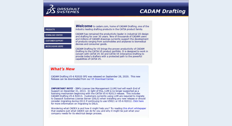 Access cadam.com. Welcome to c...