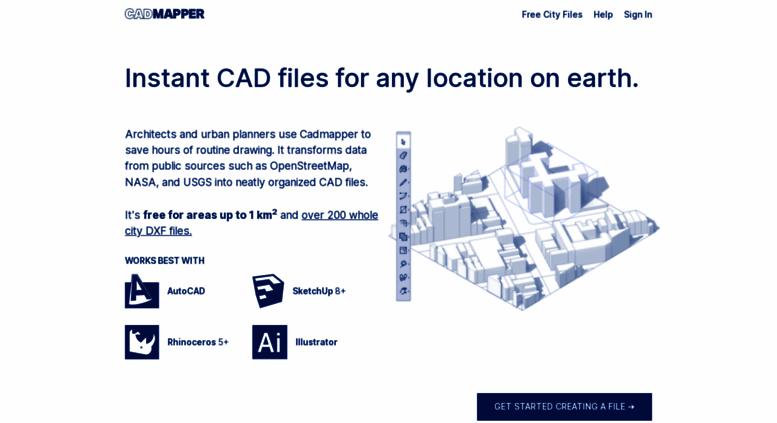 Access cadmapper com  Worldwide map files for any design program