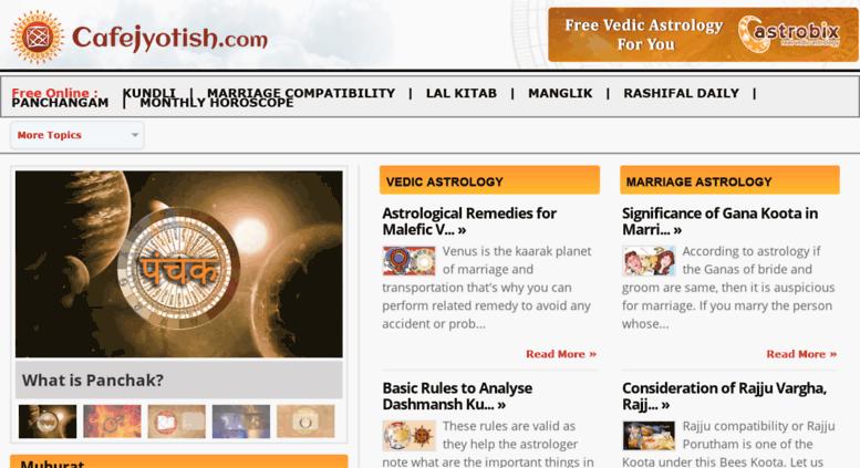 Access cafejyotish com  Cafe Jyotish | Indian Vedic Astrology
