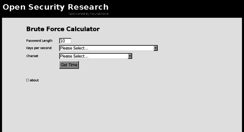 Access calc opensecurityresearch com