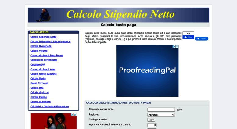 Access Calcolostipendionetto It Calcolo Stipendio Netto