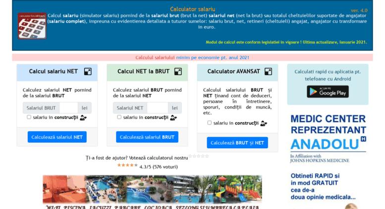 Access Calculatorsalariuro Calculator Salariu 2019 Brut La