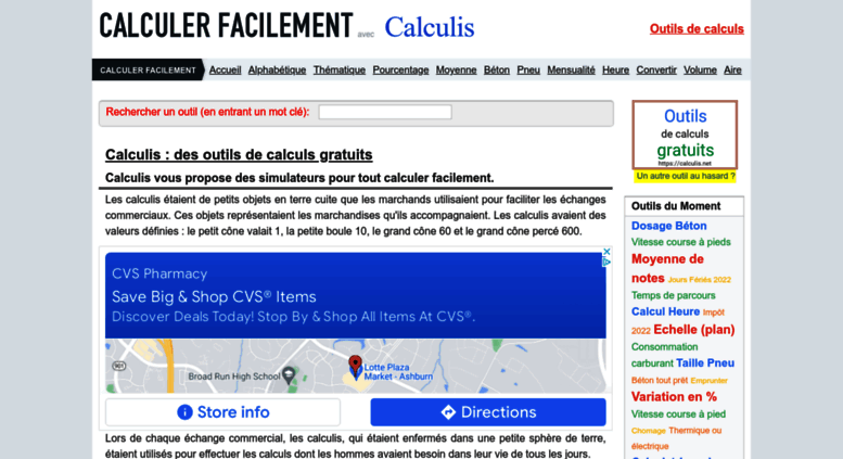 Access Calculisnet Calculis Pour Tout Calculer