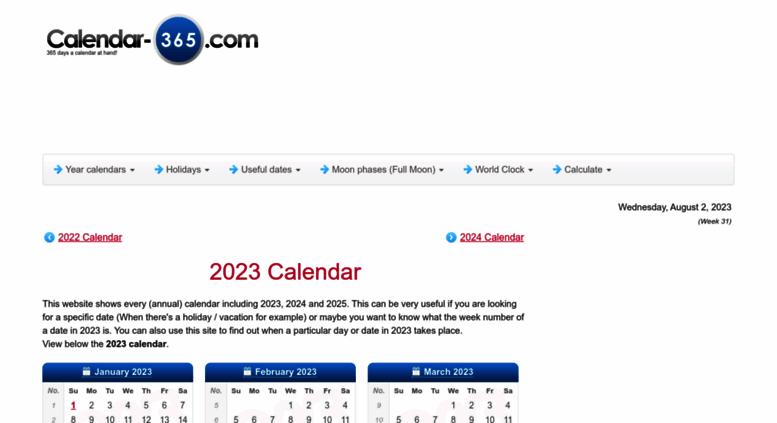 Calendar-365.Com 2020 Access calendar 365.com. 2019 Calendar