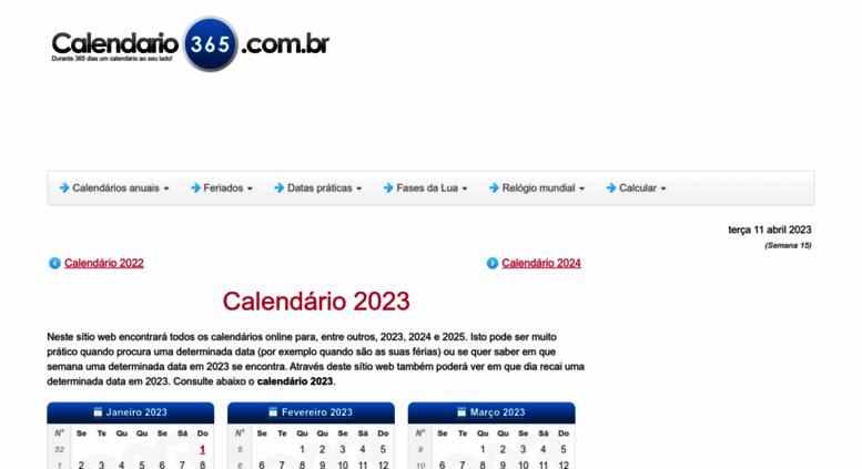 Calendario 365.Access Calendario365 Com Br Calendario 2018