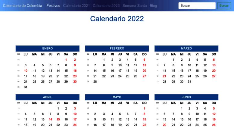 Calendario 2019 Y 2020 Con Festivos Para Colombia.Access Calendariodecolombia Com Calendario De Colombia