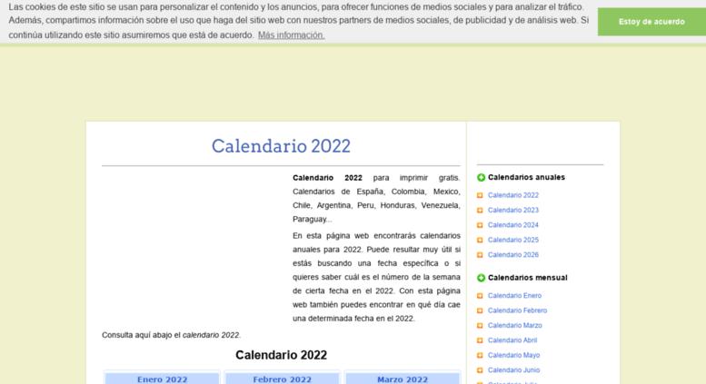 Calendario Colombia 2020.Access Calendariovip Es Calendario 2018 Para Imprimir Gratis