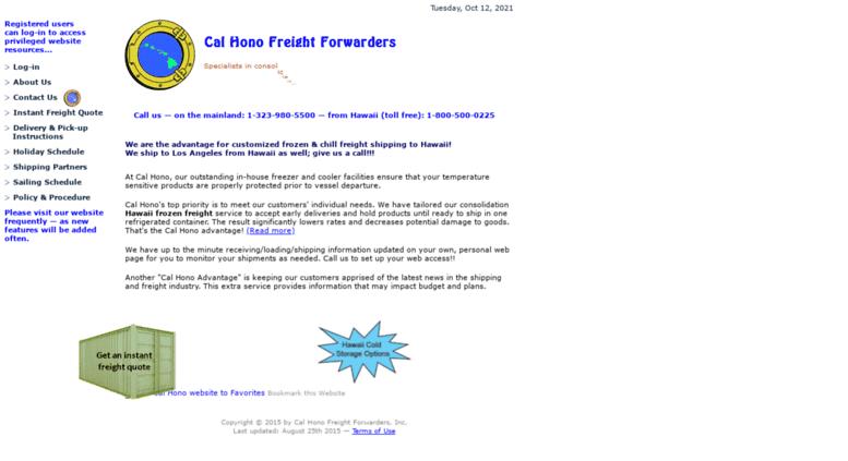 Access calhono com  Cal Hono Freight Forwarders