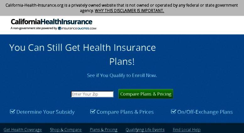 Health Insurance California >> Access California Health Insurance Org Compare California