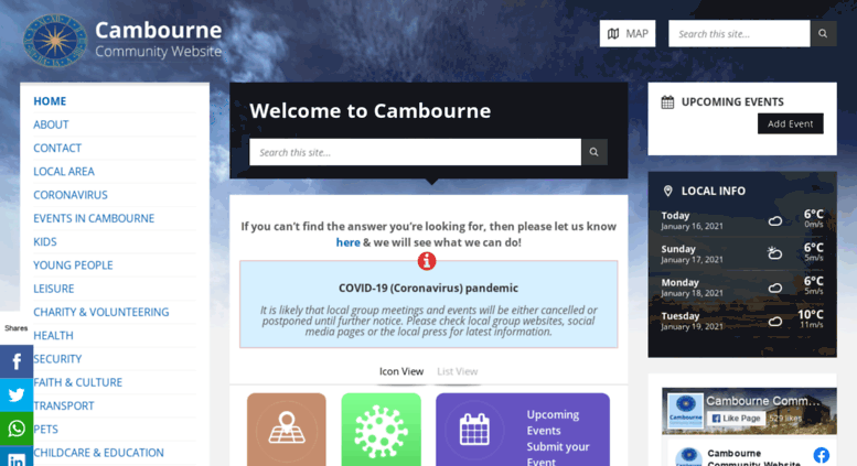 Access cambourneforum net  Cambourne Community Website