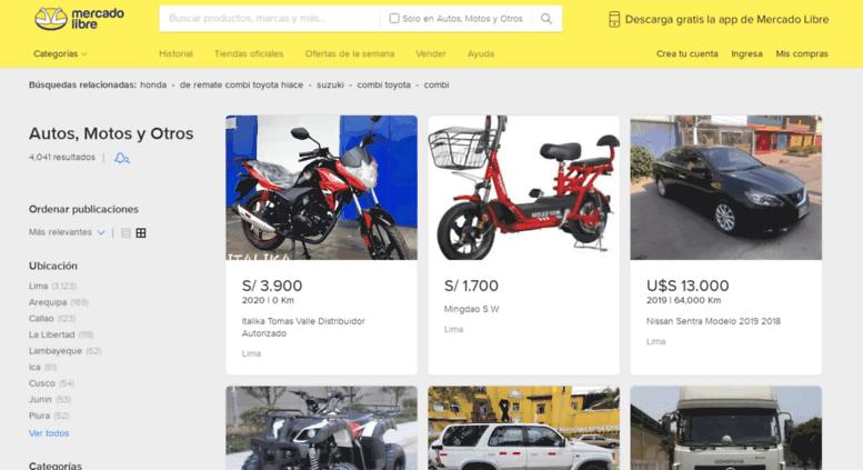 10582d7c9fd Access camioneta.mercadolibre.com.pe. Mercado Libre Perú - Donde ...