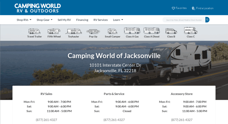 Access campingworldofjacksonville com  Jacksonville Camping