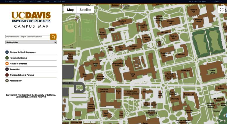 Access campusmap.ucdavis.edu. UC Davis: Campus Map Uc Davis Campus Map