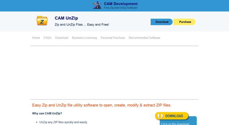 Access camunzip com  CAM UnZip - Free, Simple Zip & UnZip Software