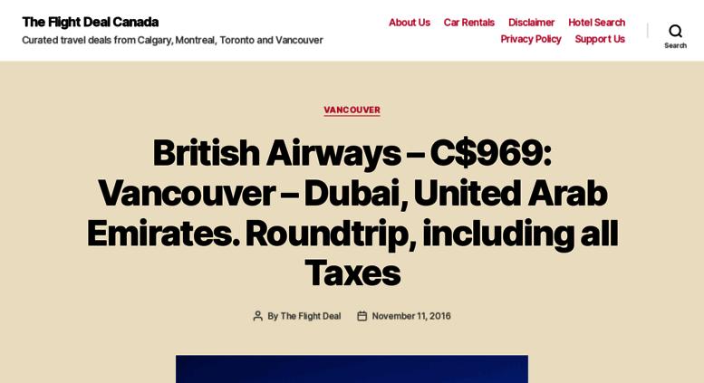 The Flight Deal >> Access Canada Theflightdeal Com The Flight Deal Canada
