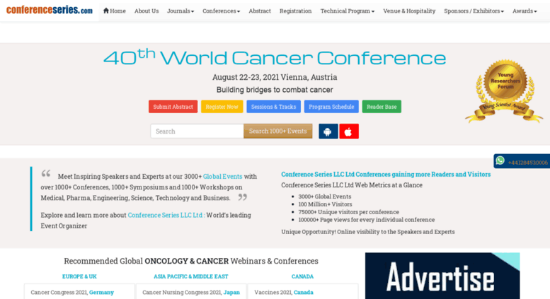 Access cancer global-summit com  World Cancer Conference
