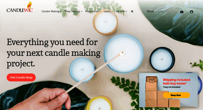 Access candlewic com  Buy Candle Making Supplies Online - Wax, Wicks