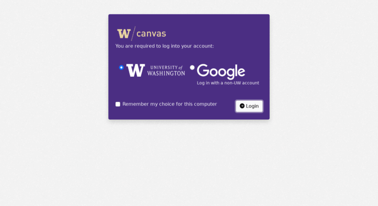 Canvas Uw Edu Screenshot
